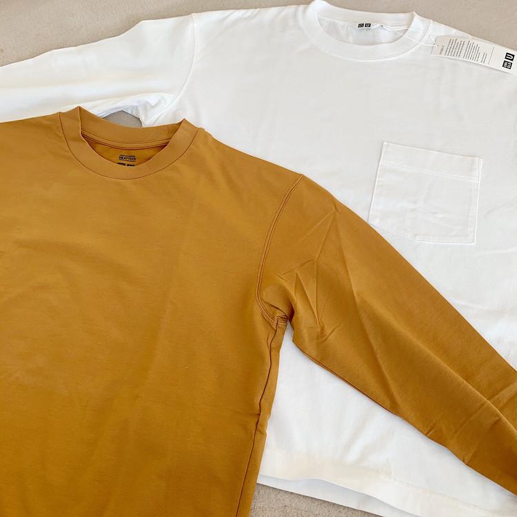 今なら790円?! UNIQLO クルーネックT(長袖)2種比較! 白を買うならどっち?_4