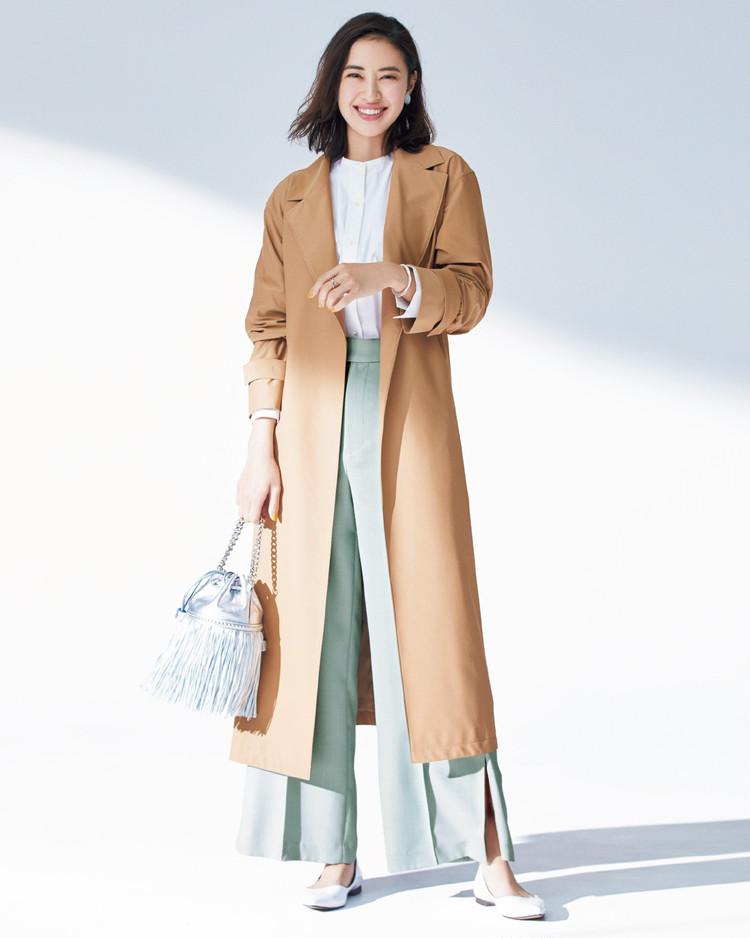 火曜日は、羽織るだけでサマになる着流しコートを主役に【今日のコーデ】