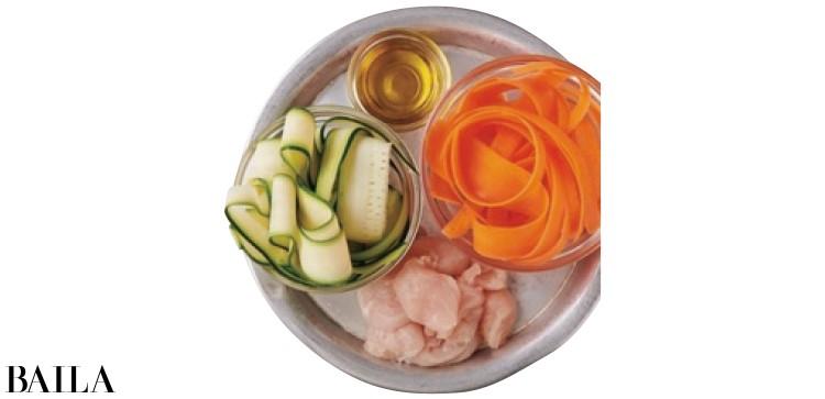 【温野菜レシピ】食感を楽む「ズッキーニとにんじんのリボンスープ」_2