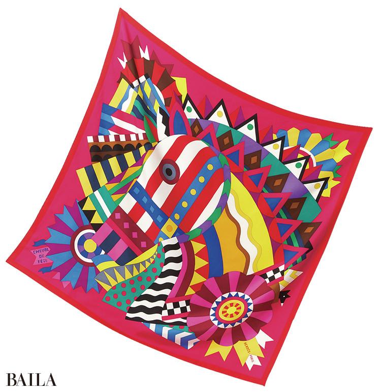エルメス スカーフ「シュヴァル・ドゥ・フェット」¥52000