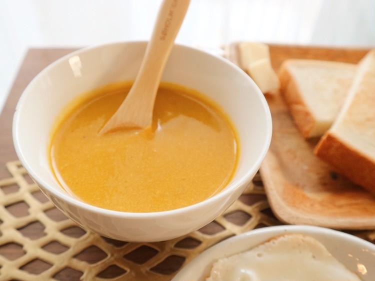 食育レシピ >> 美肌づくりに豆乳かぼちゃポタージュを。_2