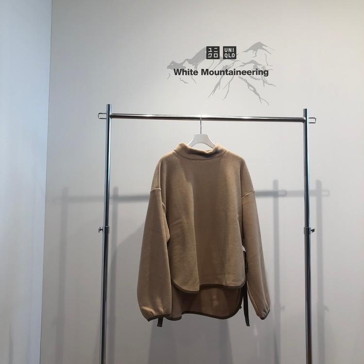 フリースオーバーサイズモックネックプルオーバー(長袖)¥2990