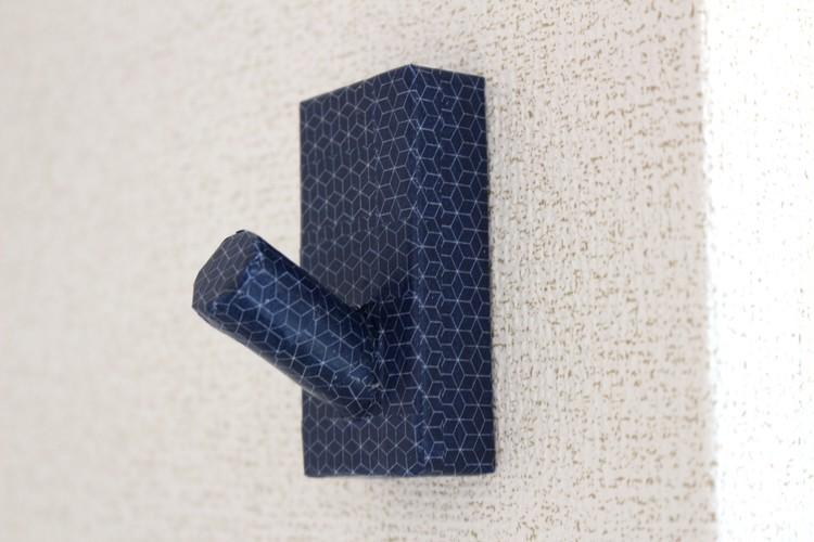無印良品の壁につけられる家具「フック」をマスキングテープでDIY