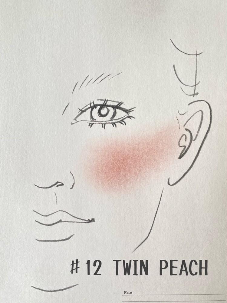 BLドラマ「2gether」のブライトとウィンがモデルとして起用されているタイの有名コスメブランド「Cathy Doll」(キャシードール)の「ヌードマットブラッシャー ♯12 TWIN PEACH」を実際に試してみた
