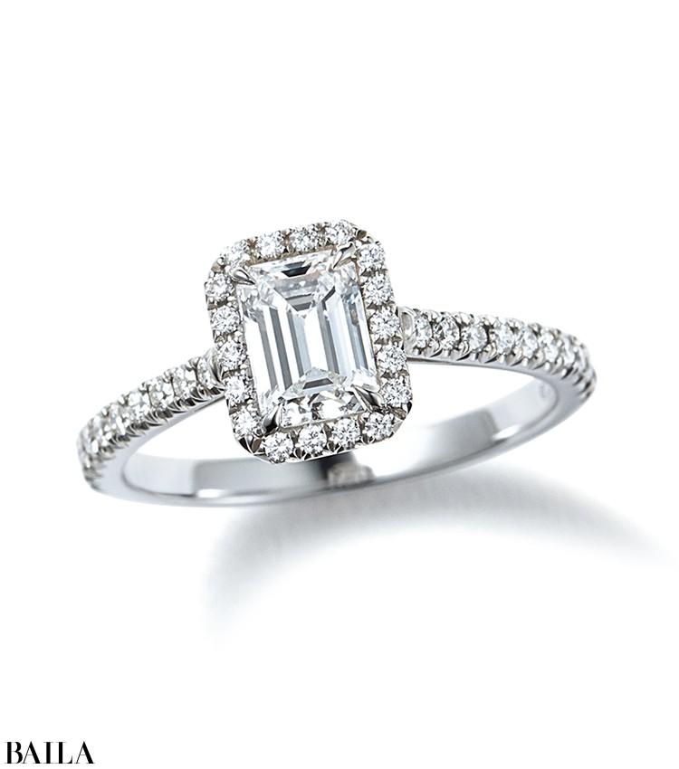 ティファニー ソレスト エメラルドカット ダイヤモンド エンゲージメント リング