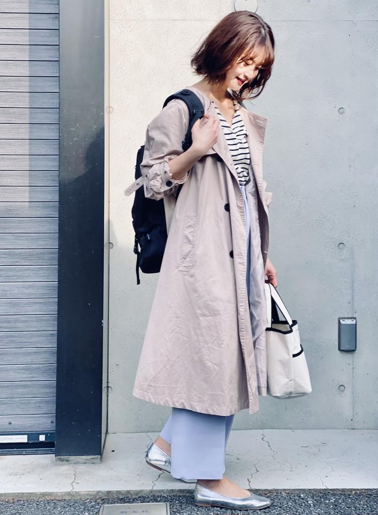 【UNIQLO】¥390きれい色パンツで春コーデ_10