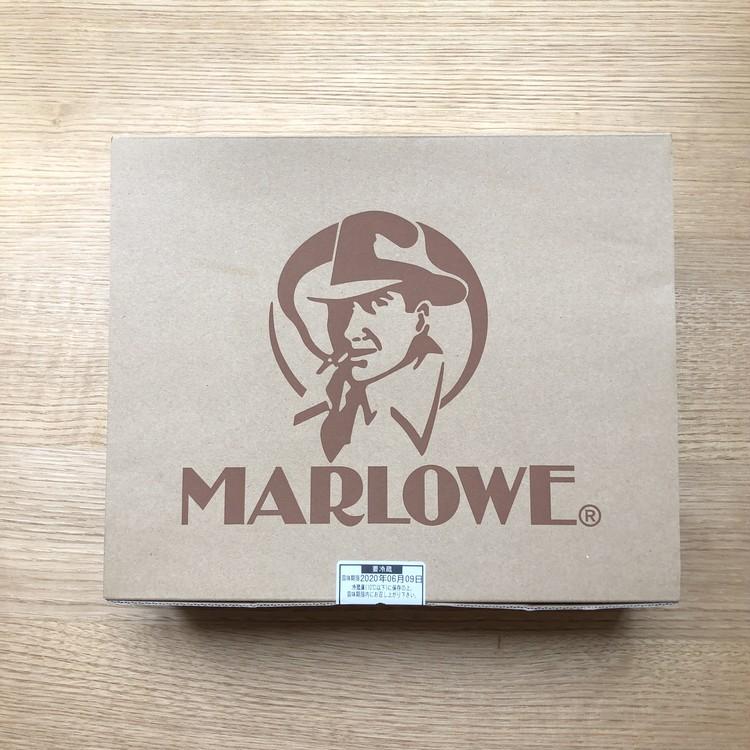 4.【マーロウ】北海道バスクチーズケーキ(陶器 ¥5200)外箱