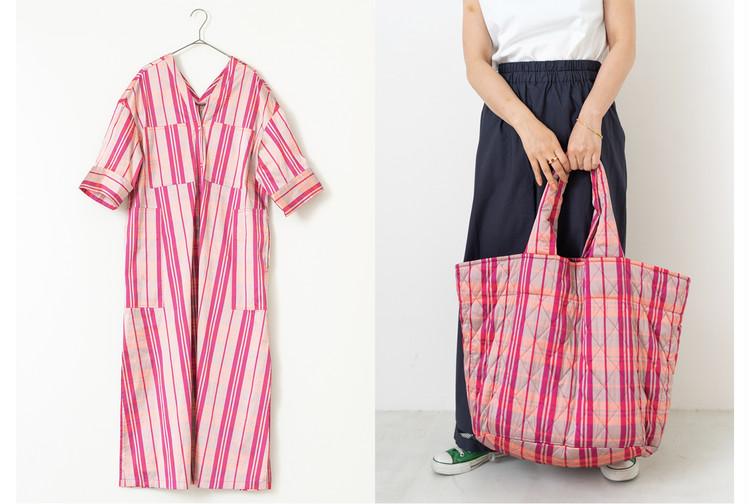 (左)dīpa dress¥22000・(右)dīpa BAG¥8800/ヌキテパ