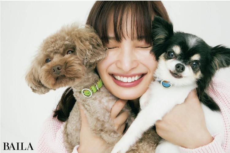 大政絢と愛犬