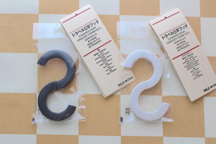 無印良品トラベルS字フックのパッケージ