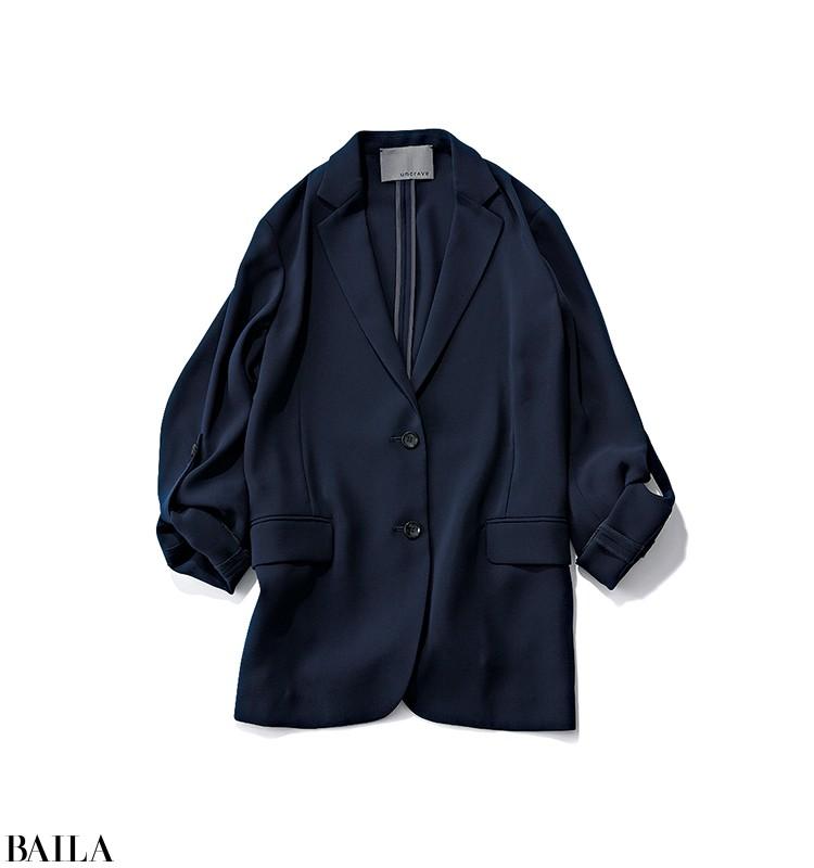 取材を受ける日は、ソフトなジャケットを使ったキレイめ寒色コーデ【2020/3/26のコーデ】_2_1