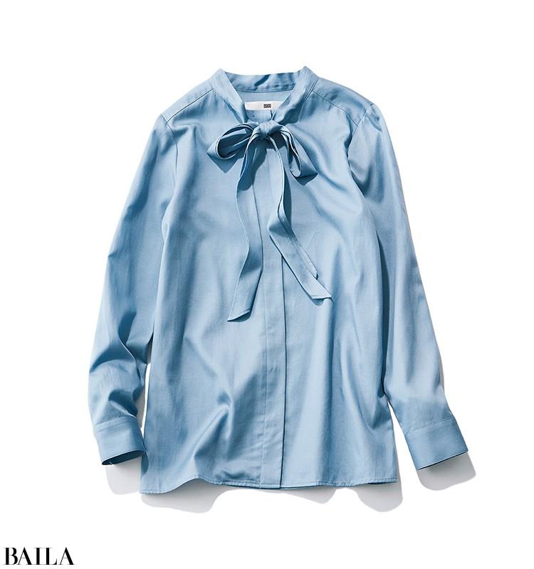 記念日デートの日は、ボウタイブラウス×タイトスカートのエレガントスタイル【2020/3/20のコーデ】_2_1