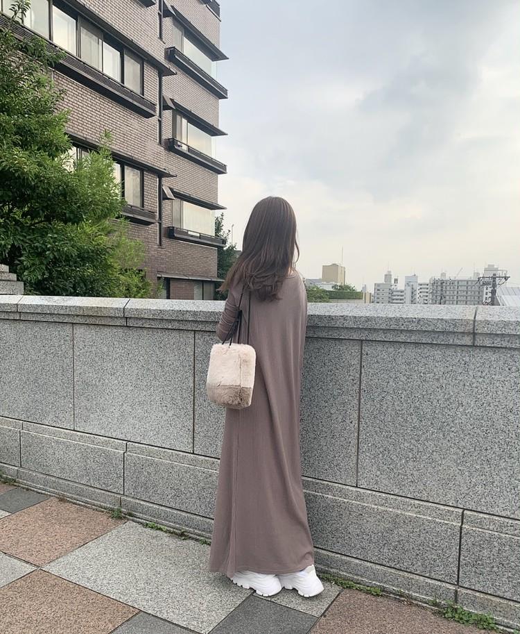 秋冬の甘カジュブラウンワントーンコーデ♡_7