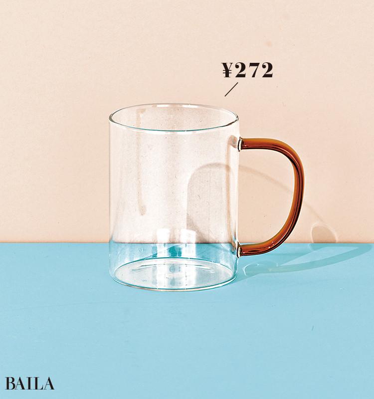 【ニトリ】耐熱ガラスマグ 琥珀     ¥272