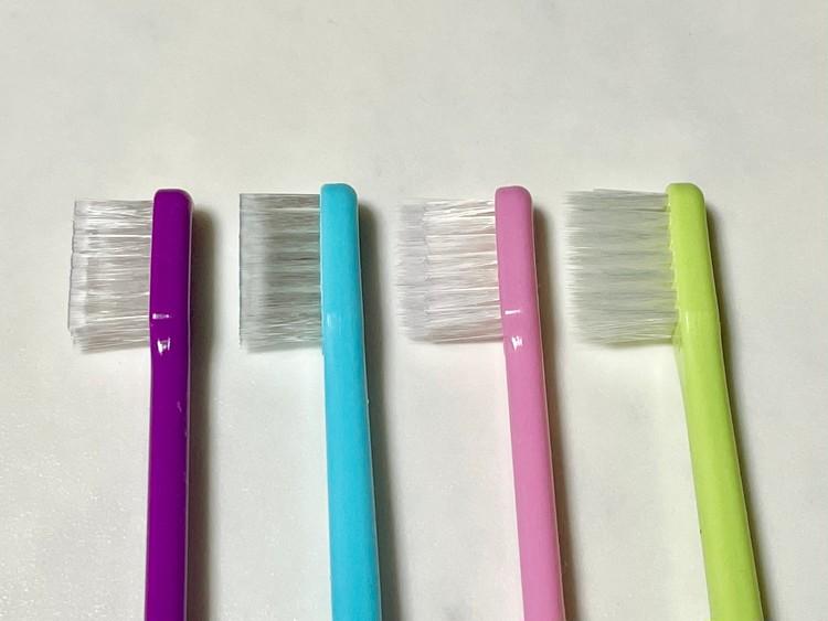 【セリアのオーラルケア1】匠の4種の歯ブラシの比較(ブラシのアップ)