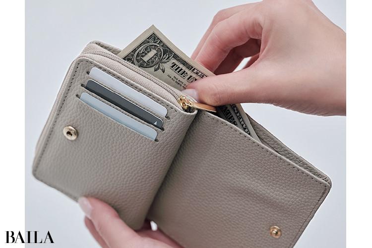 BAILA×ドゥーズィエム クラスのミニ財布:こだわり2
