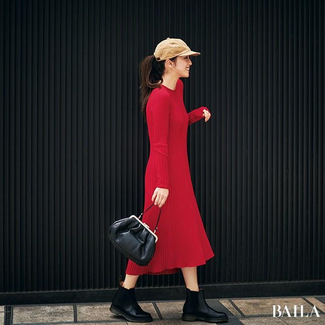 【ユニクロの赤い新作服】が30代のインスタに映える!(#秋のおしゃれToDoリスト)_1_5