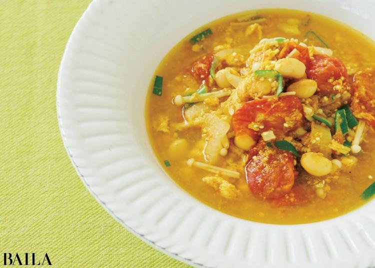 【Atsushi流・時短&美容レシピ】<Thursday>「カレーエッグビーンズスープ」で代謝アップ!_1