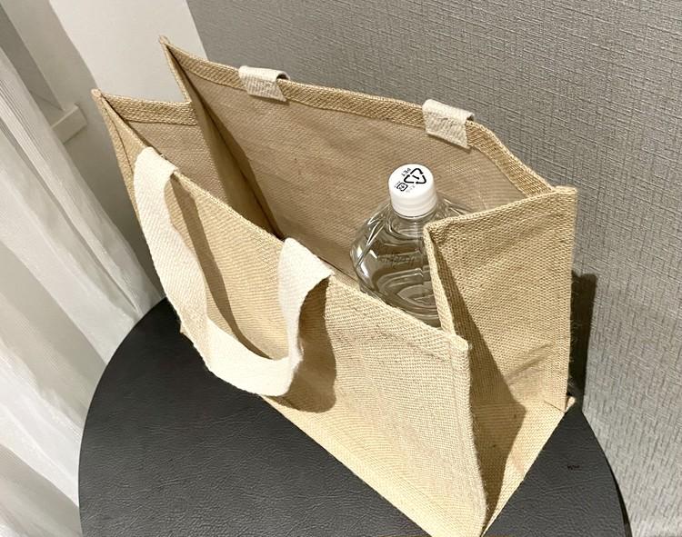 【ダイソー】エコバッグとしても使えるおしゃれジュートトートバッグが優秀♡  _14