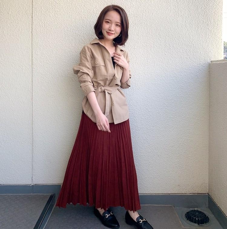 BAILA_石本愛衣_150cmコーデ_通勤_シャツジャケット