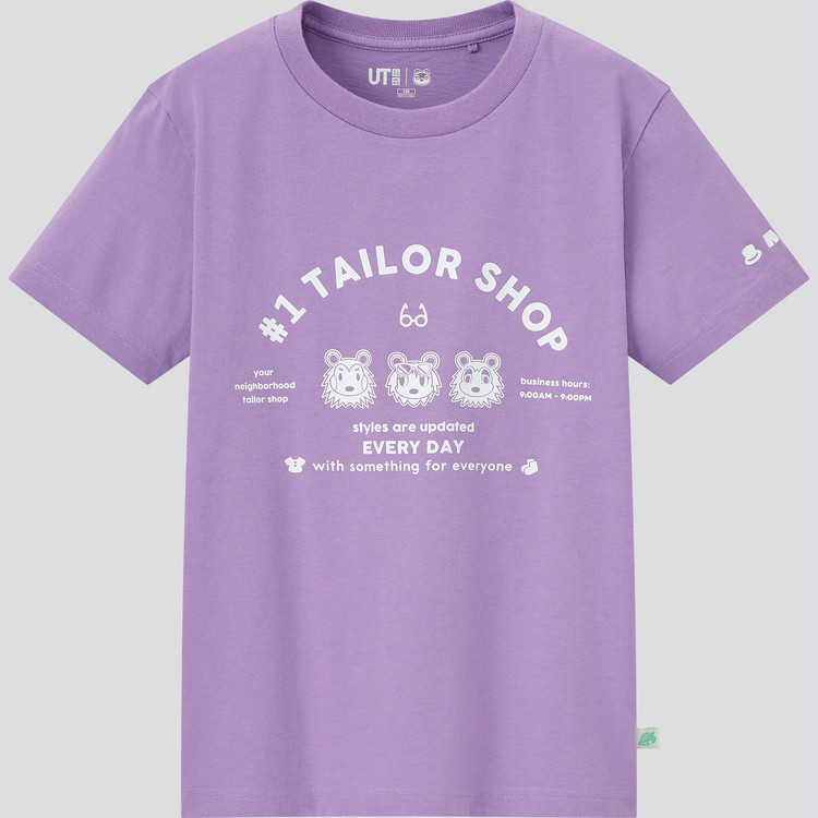 KIDS あつまれ どうぶつの森 UT グラフィックTシャツ(半袖) パープル