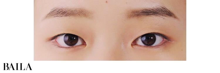 《Before》幼くも見えやすい、涼しげでさっぱりとした目もと