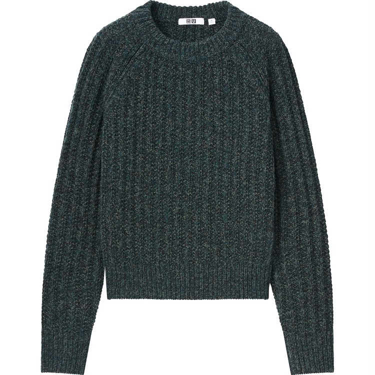 ローゲージ クルーネックセーター(長袖)¥3,990