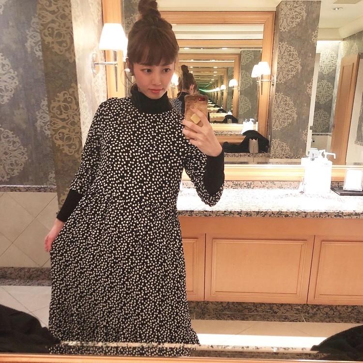 ドット柄がかわいい♡ZARAのワンピースでホテルランチ_2