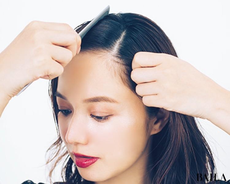 【ビジューヘアピンMIXづけ】でひとつ結びをおよばれヘアスタイルに!<動画あり>_3