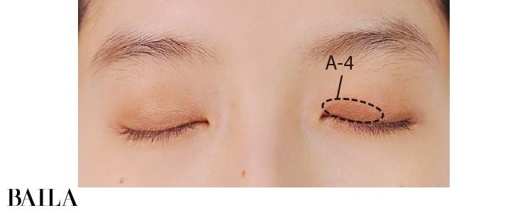 2.重たい左目の目頭に締め