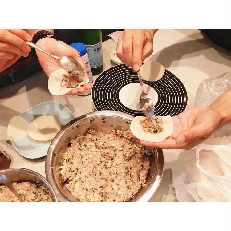 雨の日は餃子パーティ♡ニトリの爽やかエプロンでお料理_2