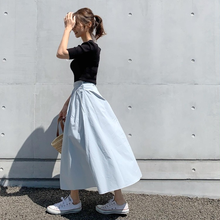 春夏にオススメ!!スカイブルーのスカート♡_1