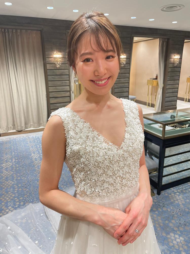 準備再開【パレス花嫁】2021SS新作ドレスを試着しました♡_3