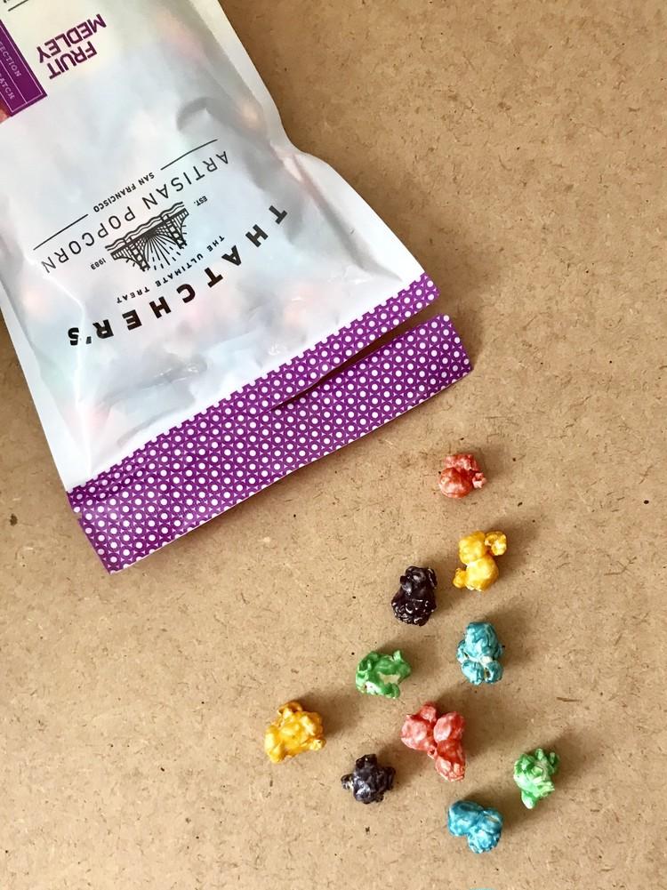 【カルディ(KALDI)】おすすめお菓子(サッチャーのフルーツメドレーポップコーン)