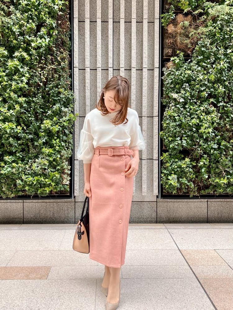 meing.のカラータイトスカート