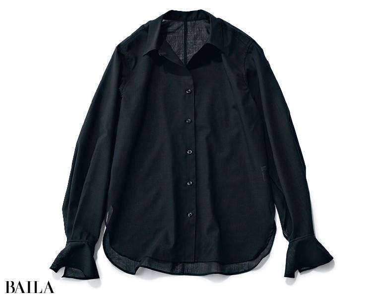 エイチ ビューティ&ユース 透けブラックシャツ