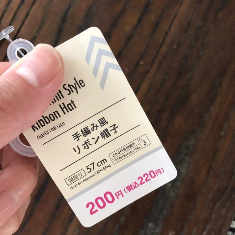 え⁈220円⁈即買いしたダイソーの麦わら帽子_2
