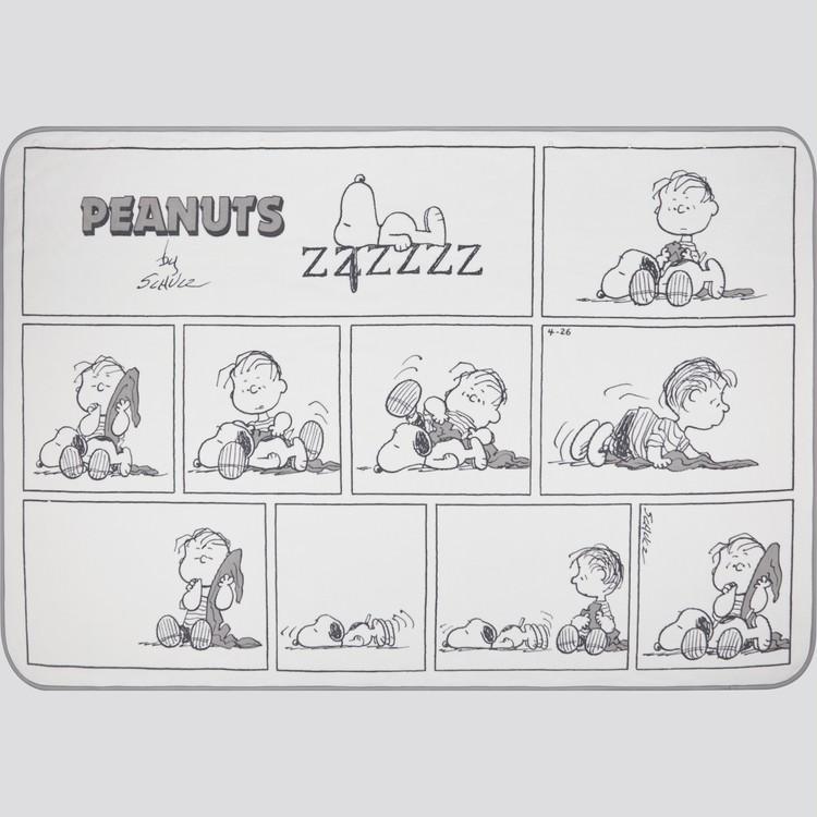 ポンチョとしても使える膝掛け毛布「ピーナッツ ホリデー コレクション リバーシブル フリースブランケット」(各 ¥1990)