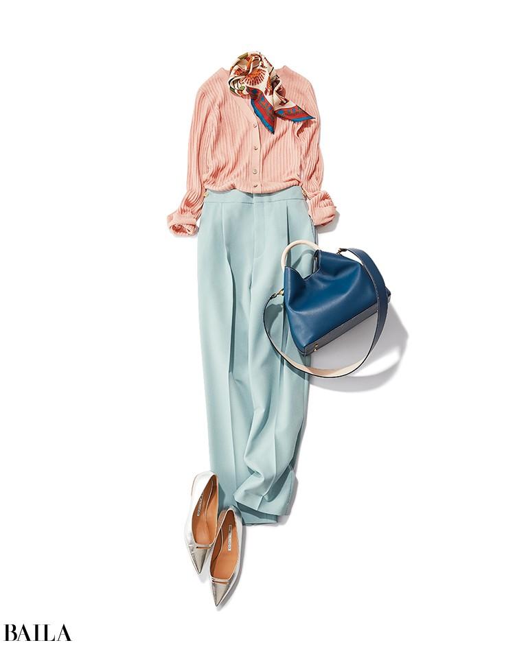 仲良しの同期と飲み会がある日は、ピンク×ミントブルーの一足早い春配色のコーデ【2020/2/20のコーデ】_1