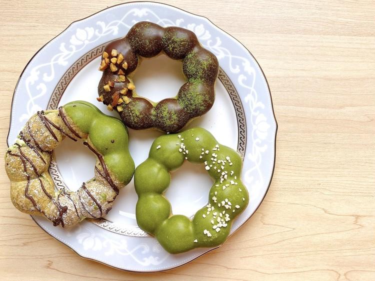 ミスドで3時のおやつ♡宇治抹茶とショコラのドーナツ_1