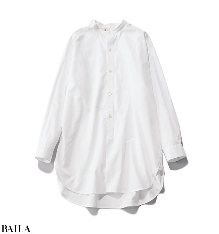 上司とミーティングする日は、ニットの下にはシャツを仕込んだ春先取りスタイル【2020/3/4のコーデ】_2_1