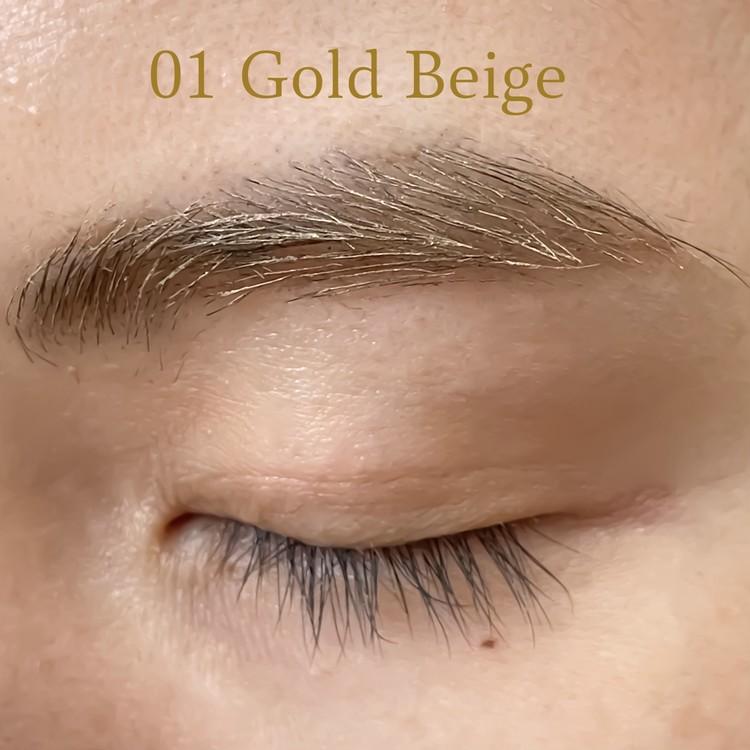 01は明るいゴールドベージュ。