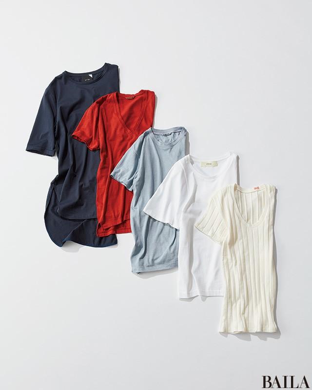 着回せる【5大無地Tシャツ】とおしゃれな16のワードローブ仲間たち_1