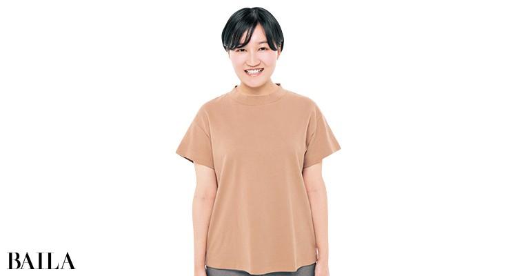 ジーユーのTシャツを編集Mが試着