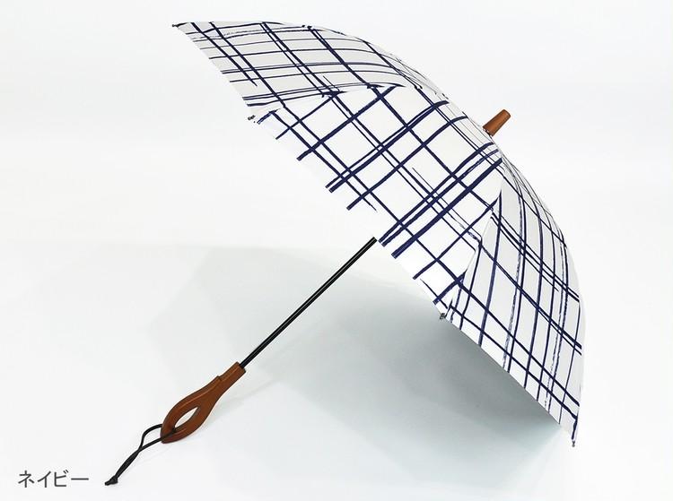 【サンバリア100】  の日傘 ネイビー柄