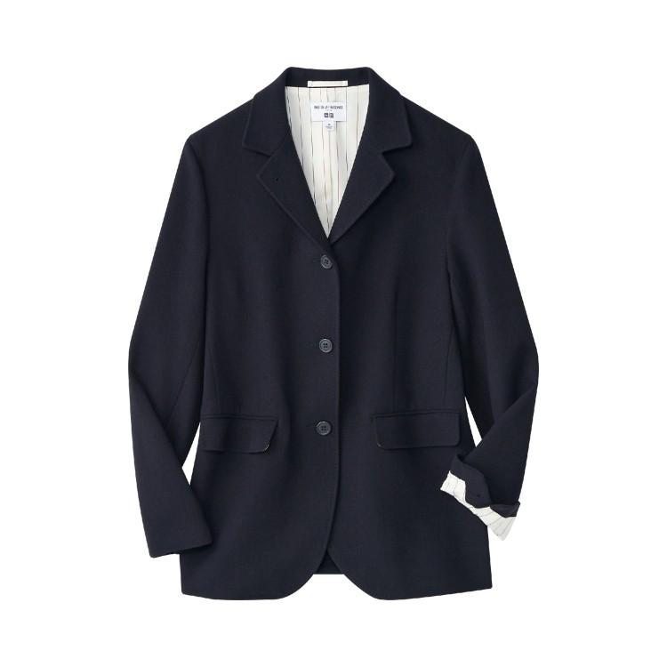 ユニクロ × イネス・ド・ラ・フレサンジュ 2021年秋冬コレクション ウールリネンブレンドジャケット¥9990