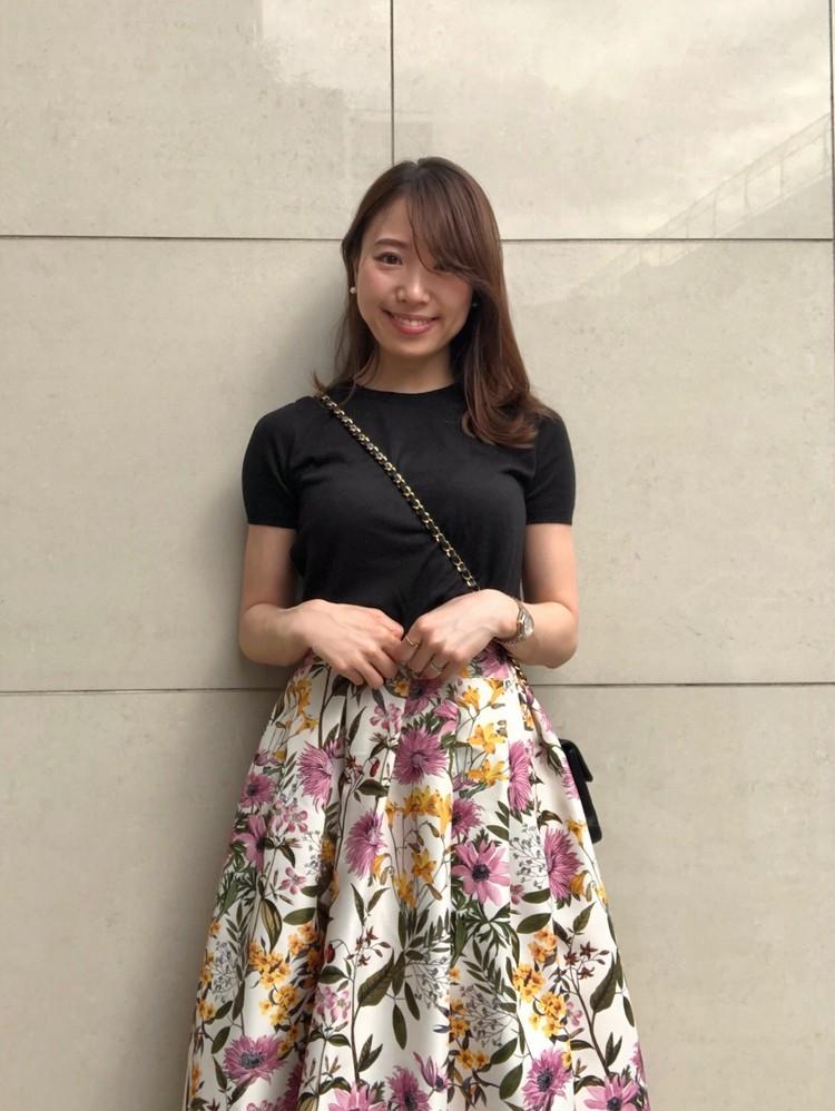 ネットでポチった【あがる⤴花柄スカート】をはいて久々の外出!_1