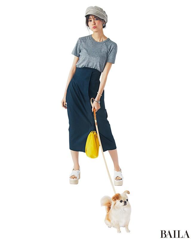 腰高タイトのラフコーデなら、休日スタイルも美女度上昇♡【2018/6/23のコーデ】_1
