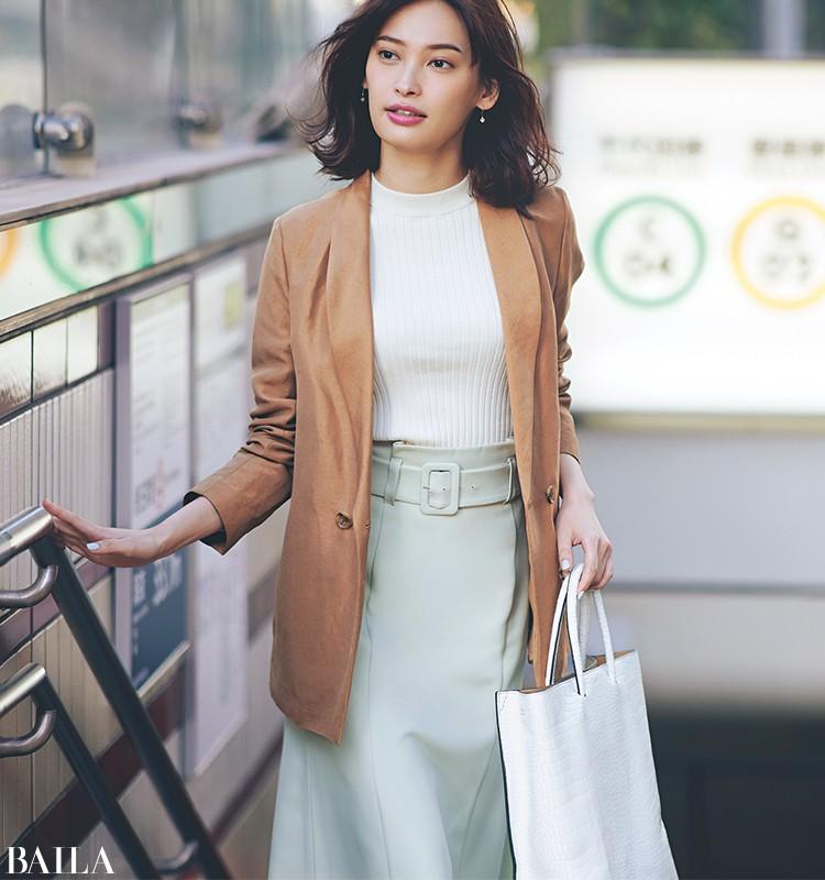 仕事のある日曜日は、キレイめジャケットの春色スタイル【2020/3/15のコーデ】_1