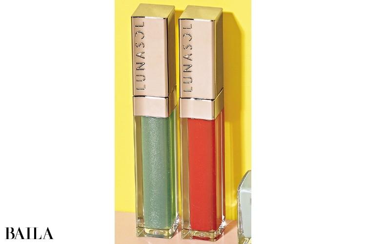 ルナソル ジェルオイルリップス(左から)EX01(限定色)・03各¥3200